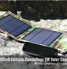 5V 1A USB Solar Power Panel Fast Charger Outdoor Camping For iPhone Samsung