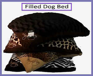 Luxury Large & Extra Large Filled Pet Bed Washable Zipped Cover Mattress Cushion