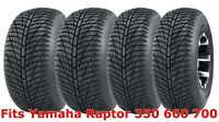Set 4 21x7-10 & 20x10-9 Yamaha Raptor 350 660 700 Hi-speed ATV tires