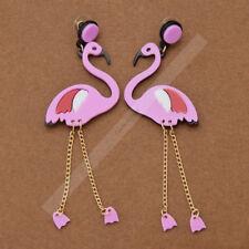 Lovely Flamingo Acrylic Pendant Punk Earring Stud Women Jewelry Gift Accessories