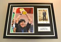 Joachim Low Signed Framed Photo 16x12 Display Germany Autograph Memorabilia +COA