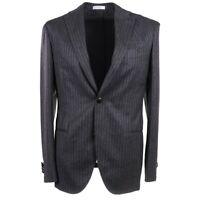 NWT $2385 BOGLIOLI Three Piece Charcoal Stripe Soft Wool Suit Slim 38 R (Eu 48)