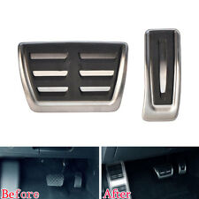 2x AT Foot Pedal Fuel Gas Brake Pedal For Audi A4 A5 A6 A7 Q5 2013-2016 NO DRILL