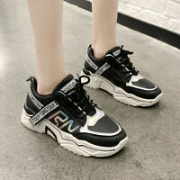 Women's Sneakers Sports Casual Running Platform Shoes Athletic Fashion Flats