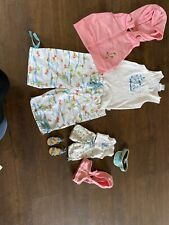 American Girl Beach Outfit Set Witg Matching Doll Set