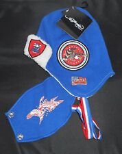 NWT ED HARDY BY CHRISTNE AUDIGIER SNOW COLLECTION BLUE  BEANIE CAP HAT EAR FLAPS