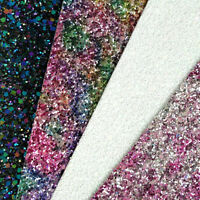 New Ultra Chunky Glitter Fabric A4 Or A5 Sheets Faux Leather For Bows & Crafts