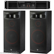 "Pair Cerwin Vega XLS-15 15"" 3 Way Floor Tower Speakers + CV-1800 1800 Watt Amp"