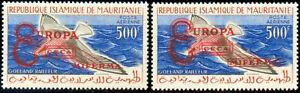 Mauritania Fauna Birds Overloaded Europa 1962 Pa 20E 20F New MNH AN420