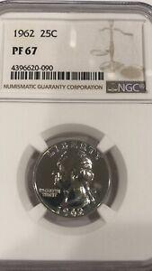 *Vintage* 1962 NGC Washington Proof 67 Quarter