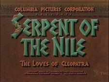SERPENT OF THE NILE 1953 (DVD) RHONDA FLEMING, RAYMOND BURR, WILLIAM LUNDIGAN