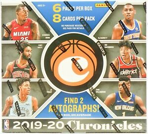 2019-20 Panini Chronicles NBA basketball Hobby Box break 2x random players/slots