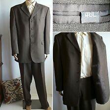 Vanetti Mens 2PC Suit Jacket 46L, Pants 40L Brown 4 Button EUC  SHIPSN24HRS