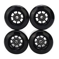 4pcs Black 8044 80A 80mm PU Wheels for Longboard Skateboard Flywheels Set