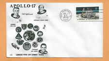 APOLLO  17 LAUNCH  CERNAN , SCHMITT , EVANS  DEC 7,1972  CANAVERAL ORBIT SPACE +