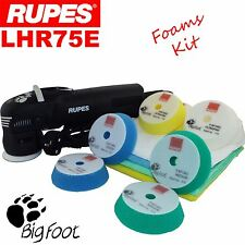 Rupes BigFoot LHR75E Standard Foams Edition Mini Detailing Polishing Machine Kit