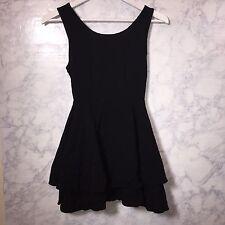 Forever 21 Layered Sleeveless Mini Strappy Little Black Dress Medium M