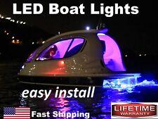 RED led BOAT lights