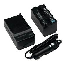 For Sony NP-F770 L-Series Info-Lithium Battery Pack 7.4v, 4600mAh Charger & DC