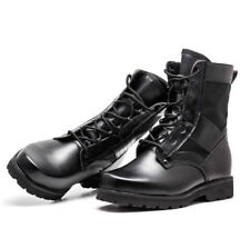 Men's Women's Combat Tactical Leather Boots Breathable Outdoor Lightweight Shoes