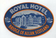 Hotel label luggage label baggage Scotland very old#369