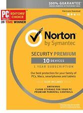 Norton Internet Security Premium 2018 10 PC