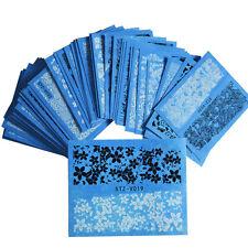 48Sheet DIY Flower Lace Nail Art Water Transfer Decal Sticker  Decor