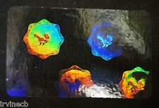 Hologram Overlays Eagle Seal Overlay Inkjet Teslin ID Cards - Lot of 5