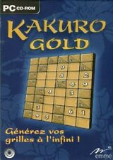 LOGICIEL PC - KAKURO GOLD - GENEREZ VOS GRILLES A L INFINI -WIN 98/ME/2000/XP