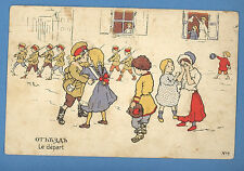 Russia Russland The Departure Vintage Postcard 533