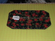 1 Set poinsettia Placemats set 4 w center round handmade Maine Christmas holiday