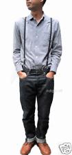 Skinny Thin Braces Suspenders, Black, Retro, Emo, Mod