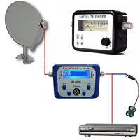 Digital Satellite Signal Finder Dish DirectTV Networks Buzzer Meter Compass FTA