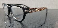 Coach Eyeglasses HC 6050 Lakota NEW color 5226 Black Beige Ocelot Size 52-16