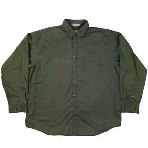 Boeing Button Down Shirt Mens XL Destinations American Identity Green Casual VTG