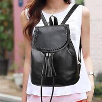 Fashion Backpack Womens PU Leather Shoulder Bag OL Work Daypack Handbag US STOCK
