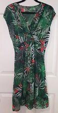Ladies size 12 Sheer Green Dress - Katies