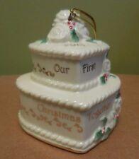 LENOX 2013 OUR FIRST CHRISTMAS TOGETHER WEDDING CAKE CHRISTMAS ORNAMENT