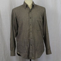 Saks Fifth Avenue Herringbone Long Sleeve Imported Fabric 100% Cotton Shirt Sz M