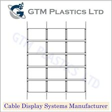 Cable Window Estate Agent Display - 3x5 A4 Landscape - Suspended Wire Systems