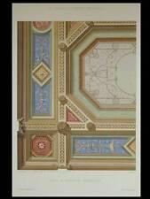 SALLE DE RECEPTION RENAISSANCE - 1900 - GRANDE LITHOGRAPHIE, DECORATION,PEINTURE