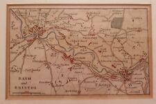 Bath & Bristol Map 1840 un-built Avon Canal
