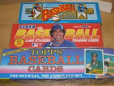 (3) Sets - 1989 Topps Fleer & Donruss  Factory Sealed Baseball Sets Lot Griffey