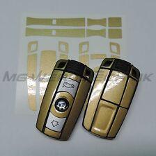 1B_Schlüssel-Dekor Aufkleber BMW 1er 3er 5er 6er Z4 X1 X5 M gold metallic glänz.
