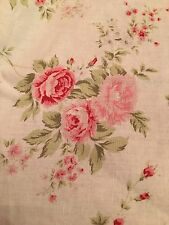 Rachel Ashwell Shabby Chic Wild Flower Bouquet Oyster Fabric Sample 1 Yd Pink