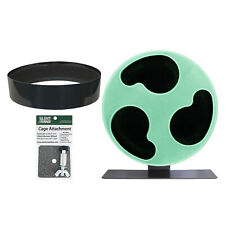 "Silent Runner Glow Wheel 12"" - Pet Exercise Wheel, Cage Attachment & Sandy Track"