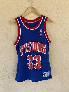 Vintage Champion Detroit Pistons Grant Hill  Mens Jersey Sz 36 Made In The USA