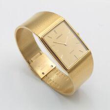 RARE VINTAGE SEIKO LASSALE ULTRA THIN GOLD TONE QUARTZ DRESS WATCH RUNNING #8724