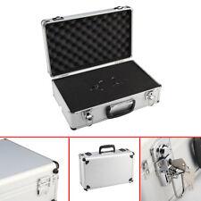 LARGE LIGHTWEIGHT ALUMINIUM FLIGHT CARRY CASE FOAM LOCKABLE KEY STORAGE BOX UK