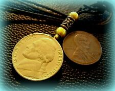 GOLD Plated JEFFERSON Nickel Pendant Necklace - Handsome unique Coin Jewelry
